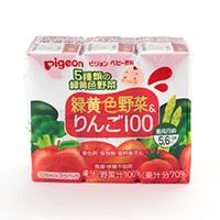 ピジョン 緑黄色野菜&りんご125ml 3コパック