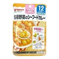 ピジョン 食育レシピ 5種野菜のシーフードカレー 80g
