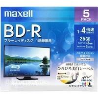 マクセル 録画用ブルーレイディスク BD-R ひろびろ美白レーベルディスク(1〜4倍速記録対応)1回録画用 5枚入り BRV25WPE.5S