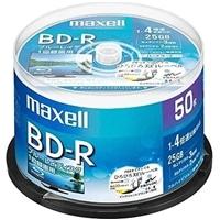 マクセル 録画用ブルーレイディスク BD-R ひろびろ美白レーベルディスク(1〜4倍速記録対応)1回録画用 50枚入り BRV25WPE.50SP