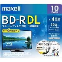 マクセル 録画用ブルーレイディスク BD-R DL ひろびろ美白レーベルディスク(1〜4倍速記録対応)2層 1回録画用 10枚入り BRV50WPE.10S