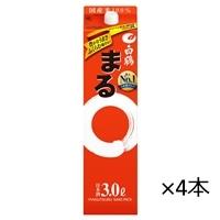 【ケース販売】白鶴 サケパック まる  3000ml×4本【別送品】