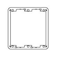パナソニック フルカラー厚型継枠2連用 WN8072W