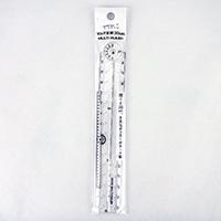 ミドリ デザインフィル マルチ定規 30cm 透明