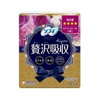 ユニ・チャーム ソフィ Kiyora 贅沢吸収 ホワイトフローラルの香り 少し多い用 52枚
