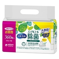 ユニ・チャーム シルコット 除菌ウェット ノンアルコール 詰替 45枚×8個
