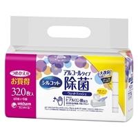 ユニ・チャーム シルコット 除菌ウェット アロエエキス 詰替 40枚×8個