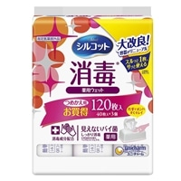 ユニ・チャーム シルコット 消毒ウェットティッシュ 詰替 40枚×3個