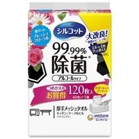 ユニ・チャーム シルコット 99.99%除菌ウェットティッシュ アルコールタイプ フローラルの香り 40枚×3個