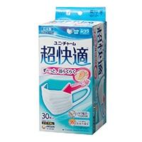 ユニ・チャーム 超快適マスク プリーツタイプ ふつう 30枚