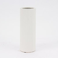 陶器傘立てスリム ストライプ ホワイト