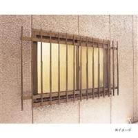 ワンタッチ窓格子 142×65〜90cm ブラウン