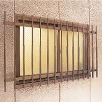 ワンタッチ窓格子 182×90×136cm ブラウン