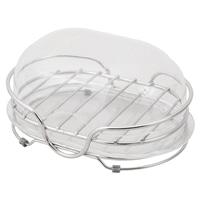 ステンレス石けん皿フタ付き(置き型)