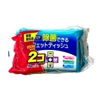 LION ペットキレイ 除菌できるウェットティッシュ 80枚入×2個