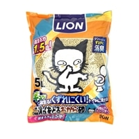 猫砂 LION ニオイをとるおから砂 リラックスラベンダーの香り 5L