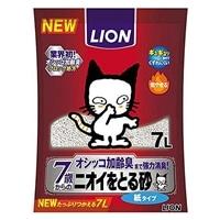 猫砂 LION ニオイをとる砂 7歳以上用 紙タイプ 7L