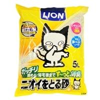 猫砂 LION ニオイをとる砂 5L(1Lあたり 約119.6円)