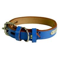 BL 手縫平首輪中一24mm ブルー