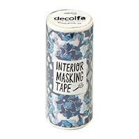 インテリアマスキングテープ 100mm タイル/ブルー