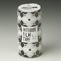 インテリアフィルムテープ 100mm フラワー/ブラック