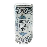 インテリアフィルムテープ 100mm タイル/ブルーW