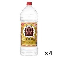 【ケース販売】宝焼酎 25度 エコペット 4000ml×4本【別送品】