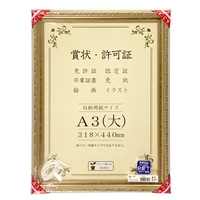 高級賞状額 J602 SP A3(大) シルバー