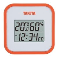 TT558デジタル温湿度計 オレンジ