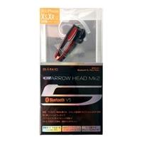 セイワ BTE101 Bluetoothモノラルイヤホン レッド