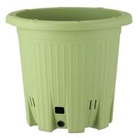 楽々菜園プランター 丸型 380支柱用フレーム付 サラダグリーン