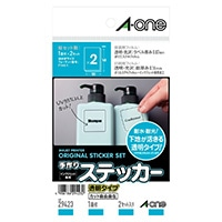 A-one エーワン 手作りステッカー 透明タイプ はがきサイズ