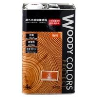 屋外木部保護塗料 ウッディーカラーズ プロテクト 4L マホガニ