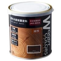 屋外木部保護塗料 ウッディーカラーズ プロテクト 0.7L チーク