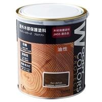 屋外木部保護塗料 ウッディーカラーズ プロテクト 1.6L ウォルナット