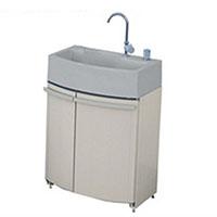 タキロン ガーデンドレッサー(腰高収納付屋外シンク)単水栓 ベージュ 給水ユニット付【別送品】