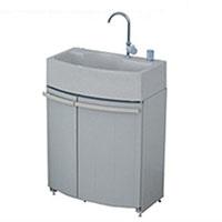 タキロン ガーデンドレッサー(腰高収納付屋外シンク)単水栓 グレー 給水ユニット付【別送品】