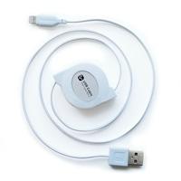 カシムラ USB充電&同期ケーブル リール 80cm LN WH KL-31