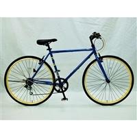 【自転車】【全国配送】700CクロスバイクADEL−�T外装6段BL【別送品】