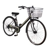 【自転車】【全国配送】シティ車 ダカラット 27型  外装6段 ブラック/ゴールド【別送品】