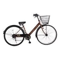 【自転車】【全国配送】シティ車 ダカラット 27型  外装6段  ブラウン/ベージュ【別送品】