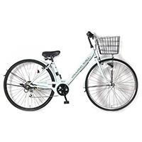 【自転車】《サイモト自転車》20年モデル ダカラットノーベルシティ27 6SPD LEDオートライト ブルー