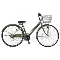 【自転車】《サイモト自転車》20年モデル ダカラットノーベルシティ27 6SPD LEDオートライト カーキ