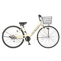 【自転車】《サイモト自転車》20年モデル ダカラットノーベルシティ27 6SPD LEDオートライト カフェ