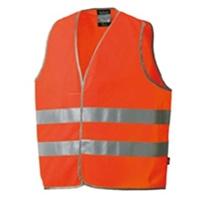 高視認性安全ベスト オレンジ