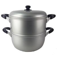 ニューセレット アルミ2段蒸し器 28cm 目皿付 H2418
