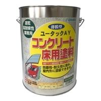 ユータックAY コンクリート床用塗料 ライトグリーン 4kg【別送品】