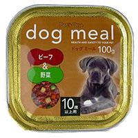 Pet'one ドッグミール トレイ 10歳用 ビーフ&野菜 100g