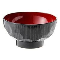 食洗機で洗える 汁椀 亀甲(黒)