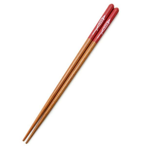 食洗機で洗える 木製塗箸(朱)23cm